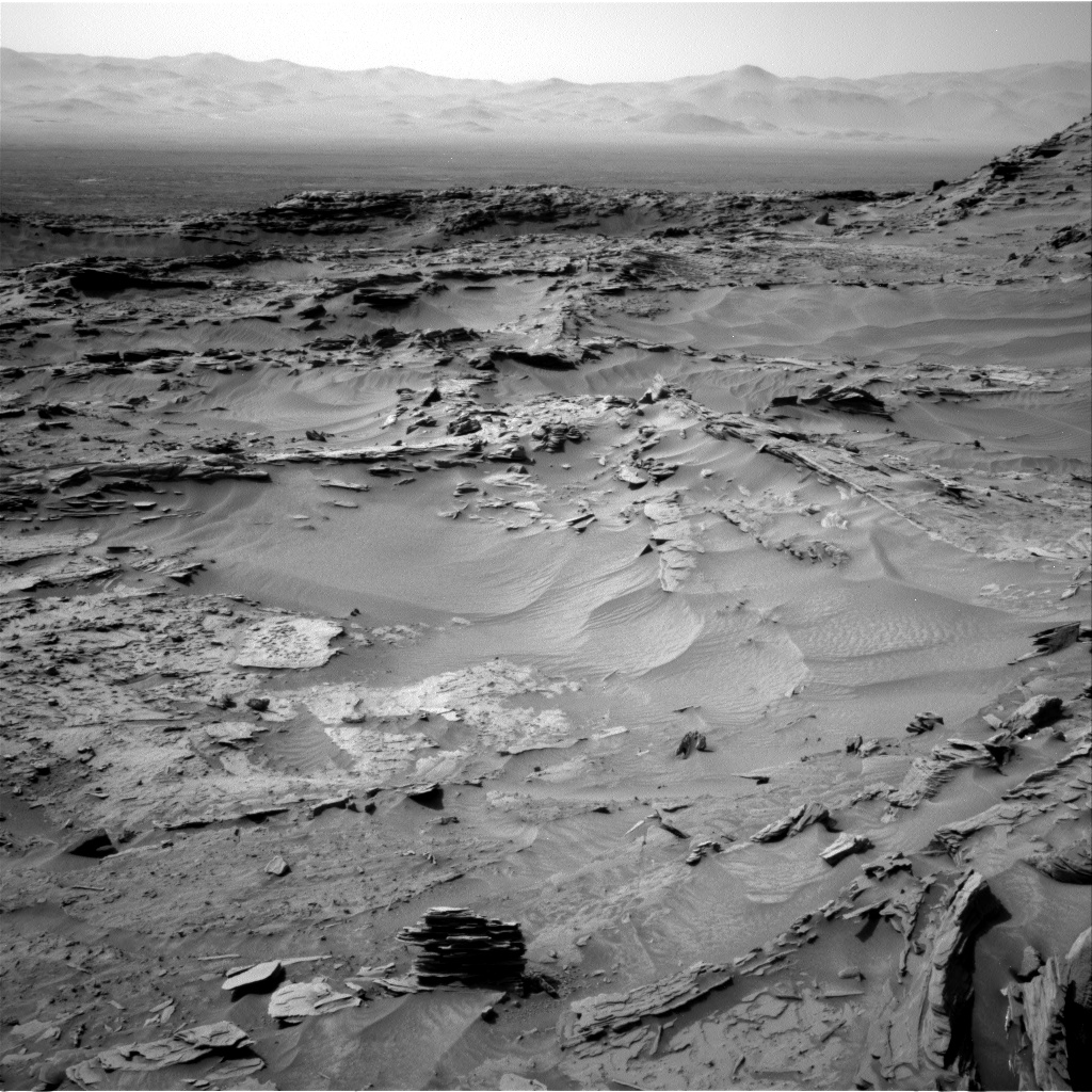 Nasa's Mars rover Curiosity acquired this image using its Right Navigation Camera on Sol 1349, at drive 1610, site number 54