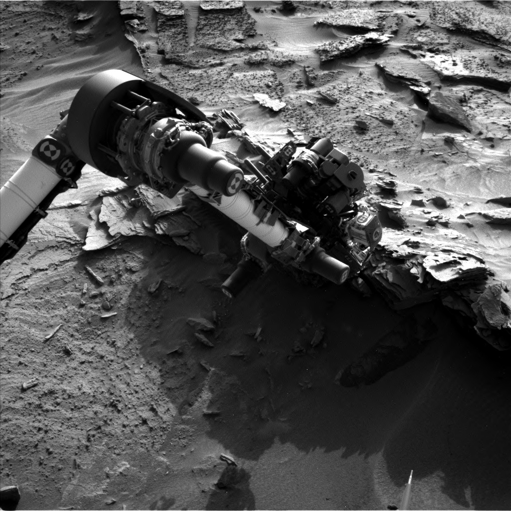 Nasa's Mars rover Curiosity acquired this image using its Left Navigation Camera on Sol 1351, at drive 1610, site number 54