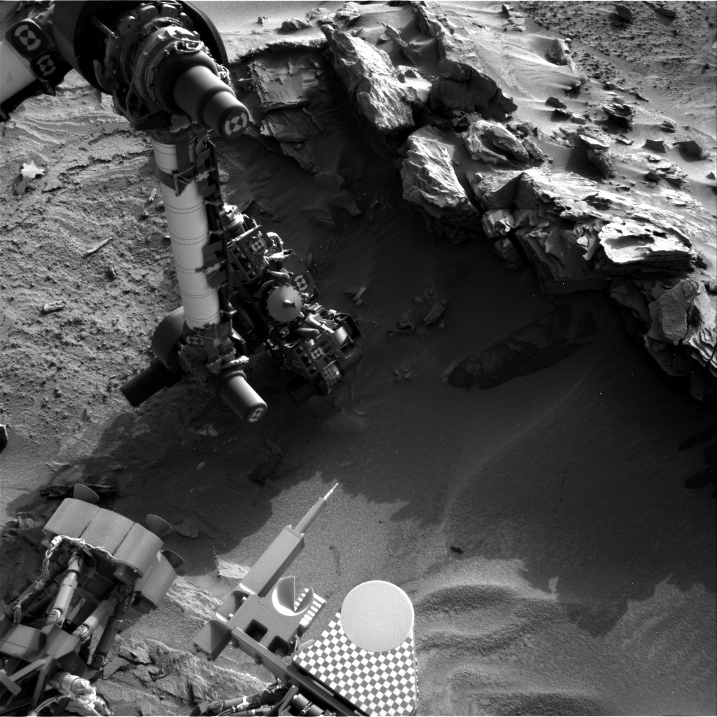 NASA's Mars rover Curiosity acquired this image using its Right Navigation Cameras (Navcams) on Sol 1351