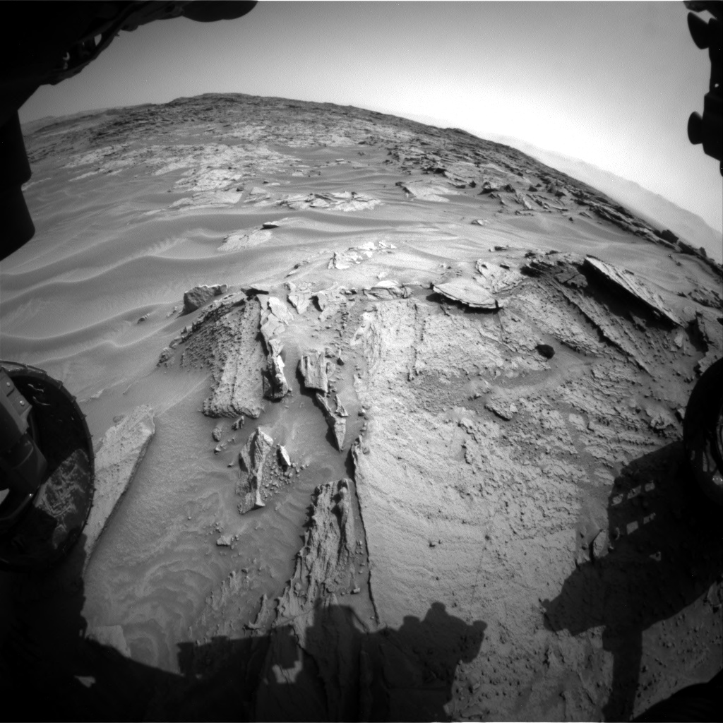 Nasa's Mars rover Curiosity acquired this image using its Front Hazard Avoidance Camera (Front Hazcam) on Sol 1352, at drive 1772, site number 54