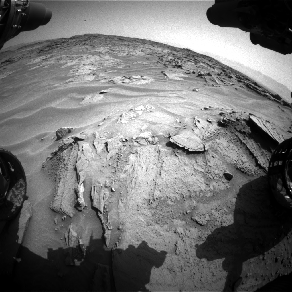 Nasa's Mars rover Curiosity acquired this image using its Front Hazard Avoidance Camera (Front Hazcam) on Sol 1352, at drive 1778, site number 54