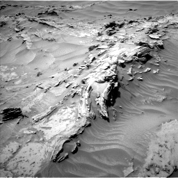 Nasa's Mars rover Curiosity acquired this image using its Left Navigation Camera on Sol 1352, at drive 1616, site number 54