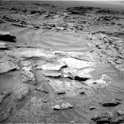 Nasa's Mars rover Curiosity acquired this image using its Left Navigation Camera on Sol 1352, at drive 1658, site number 54