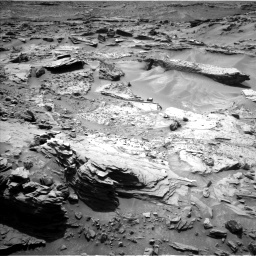 Nasa's Mars rover Curiosity acquired this image using its Left Navigation Camera on Sol 1352, at drive 1688, site number 54