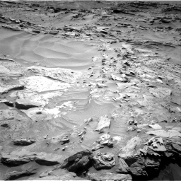 Nasa's Mars rover Curiosity acquired this image using its Right Navigation Camera on Sol 1352, at drive 1646, site number 54