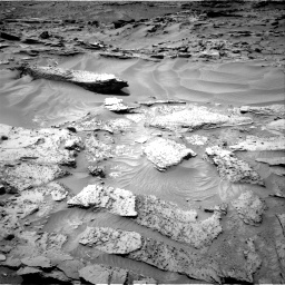 Nasa's Mars rover Curiosity acquired this image using its Right Navigation Camera on Sol 1352, at drive 1670, site number 54