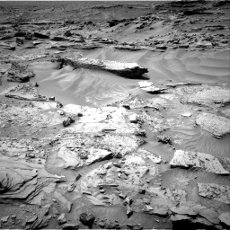 Nasa's Mars rover Curiosity acquired this image using its Right Navigation Camera on Sol 1352, at drive 1676, site number 54