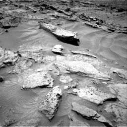 Nasa's Mars rover Curiosity acquired this image using its Right Navigation Camera on Sol 1352, at drive 1724, site number 54
