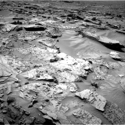 Nasa's Mars rover Curiosity acquired this image using its Right Navigation Camera on Sol 1352, at drive 1736, site number 54