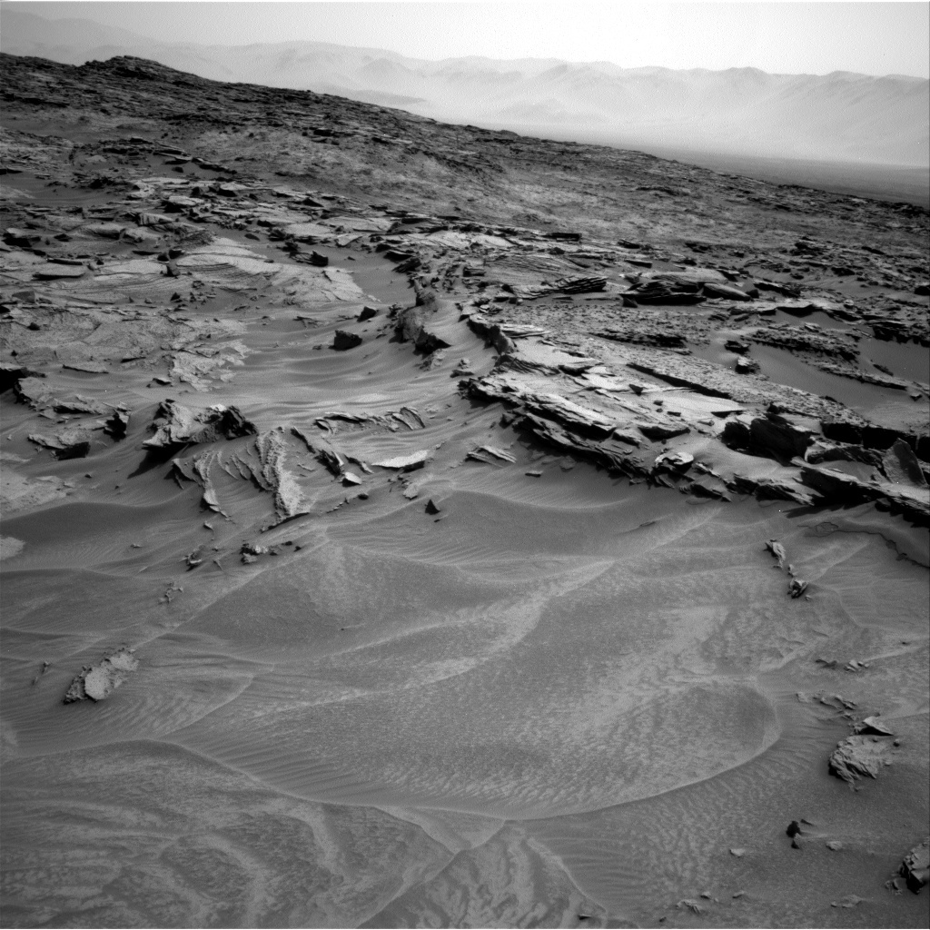 NASA's Mars rover Curiosity acquired this image using its Right Navigation Cameras (Navcams) on Sol 1352