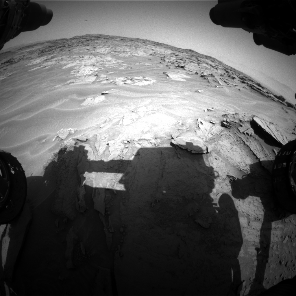 Nasa's Mars rover Curiosity acquired this image using its Front Hazard Avoidance Camera (Front Hazcam) on Sol 1353, at drive 1778, site number 54