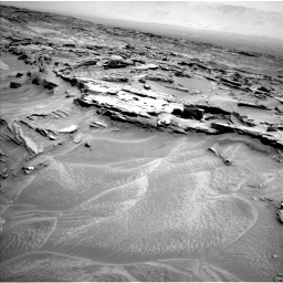 Nasa's Mars rover Curiosity acquired this image using its Left Navigation Camera on Sol 1353, at drive 1784, site number 54