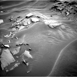 Nasa's Mars rover Curiosity acquired this image using its Left Navigation Camera on Sol 1353, at drive 1862, site number 54