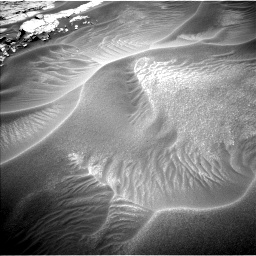 Nasa's Mars rover Curiosity acquired this image using its Left Navigation Camera on Sol 1353, at drive 1946, site number 54