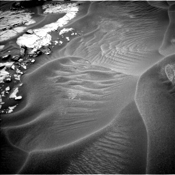 Nasa's Mars rover Curiosity acquired this image using its Left Navigation Camera on Sol 1353, at drive 1970, site number 54