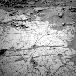 Nasa's Mars rover Curiosity acquired this image using its Left Navigation Camera on Sol 1353, at drive 2138, site number 54