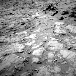 Nasa's Mars rover Curiosity acquired this image using its Left Navigation Camera on Sol 1353, at drive 2174, site number 54
