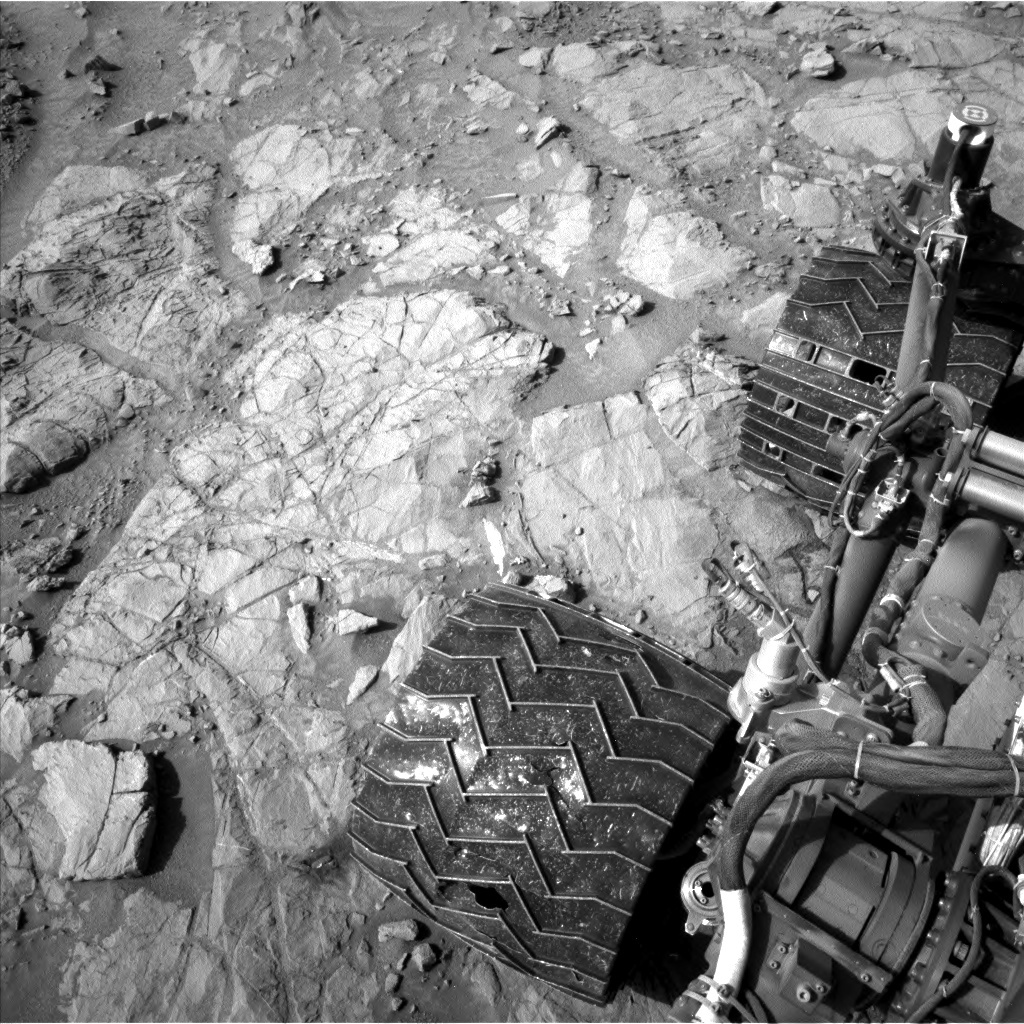 Murray formation under the rover's wheels.