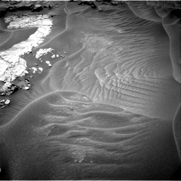 Nasa's Mars rover Curiosity acquired this image using its Right Navigation Camera on Sol 1353, at drive 1988, site number 54