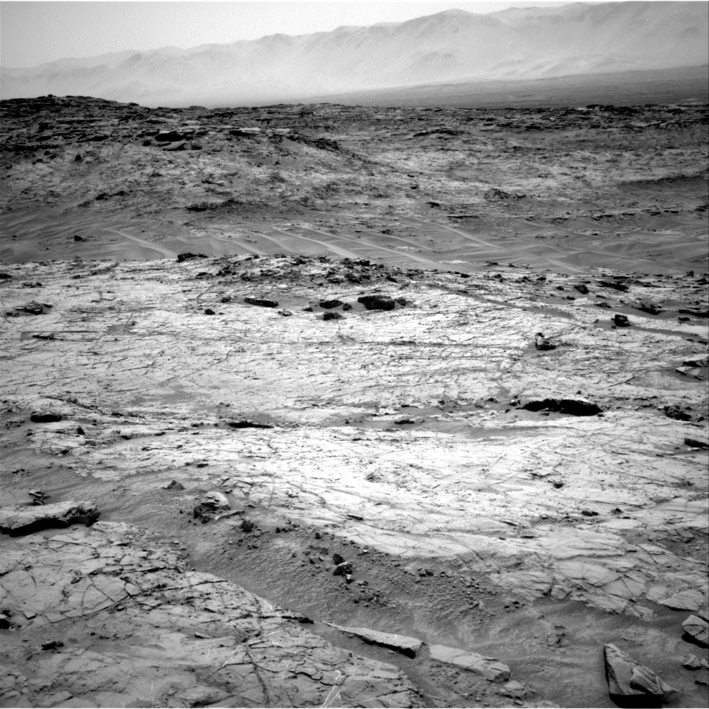 Nasa's Mars rover Curiosity acquired this image using its Right Navigation Camera on Sol 1353, at drive 2202, site number 54