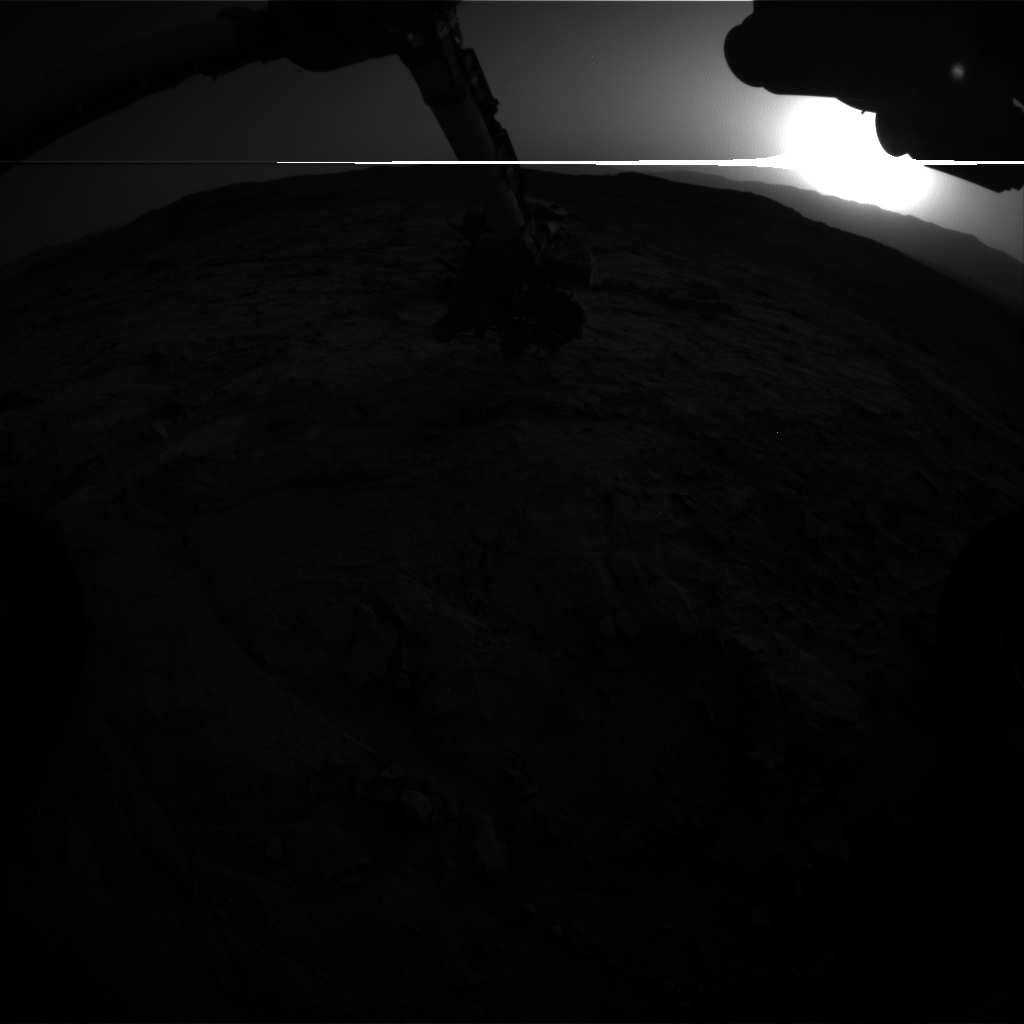 Nasa's Mars rover Curiosity acquired this image using its Front Hazard Avoidance Camera (Front Hazcam) on Sol 1355, at drive 2202, site number 54