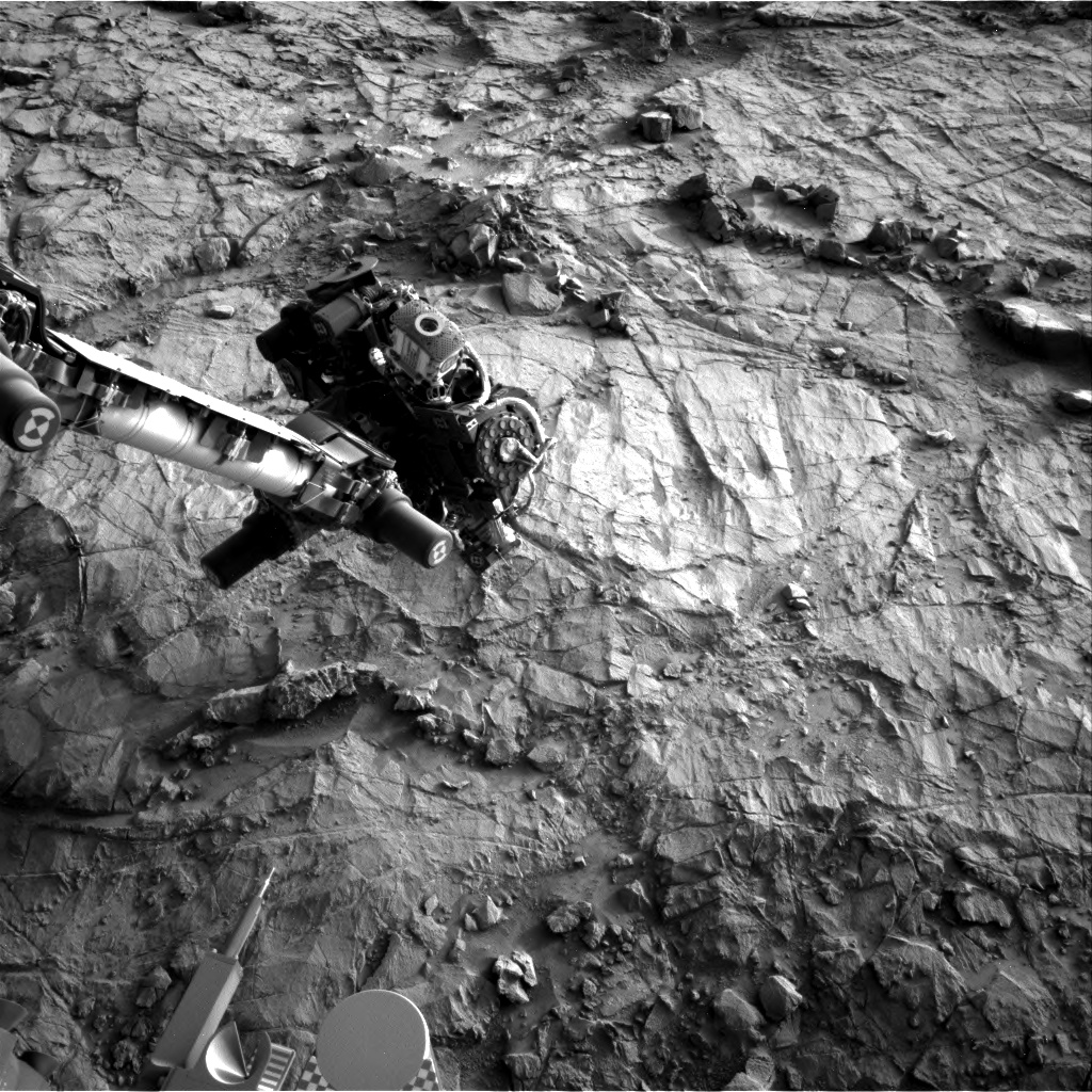 Nasa's Mars rover Curiosity acquired this image using its Right Navigation Camera on Sol 1355, at drive 2202, site number 54