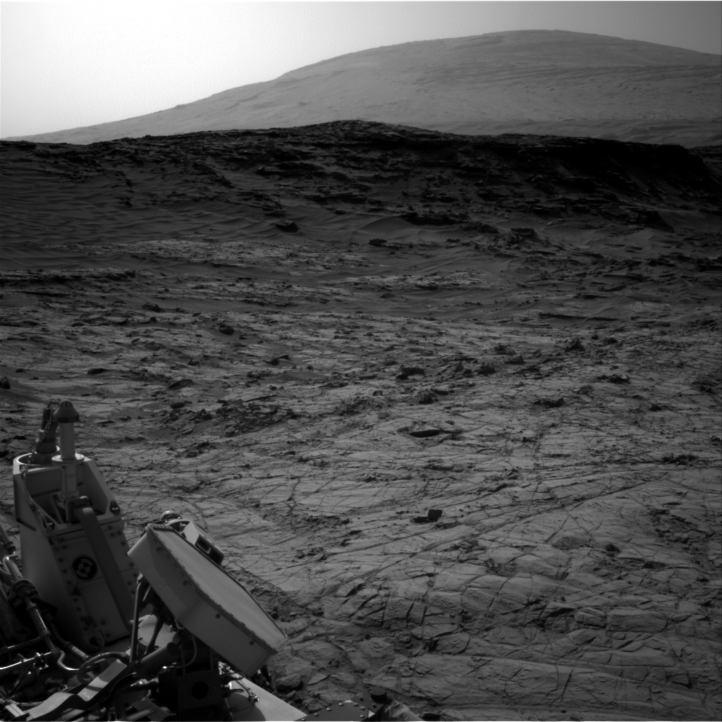 Nasa's Mars rover Curiosity acquired this image using its Right Navigation Camera on Sol 1356, at drive 2202, site number 54