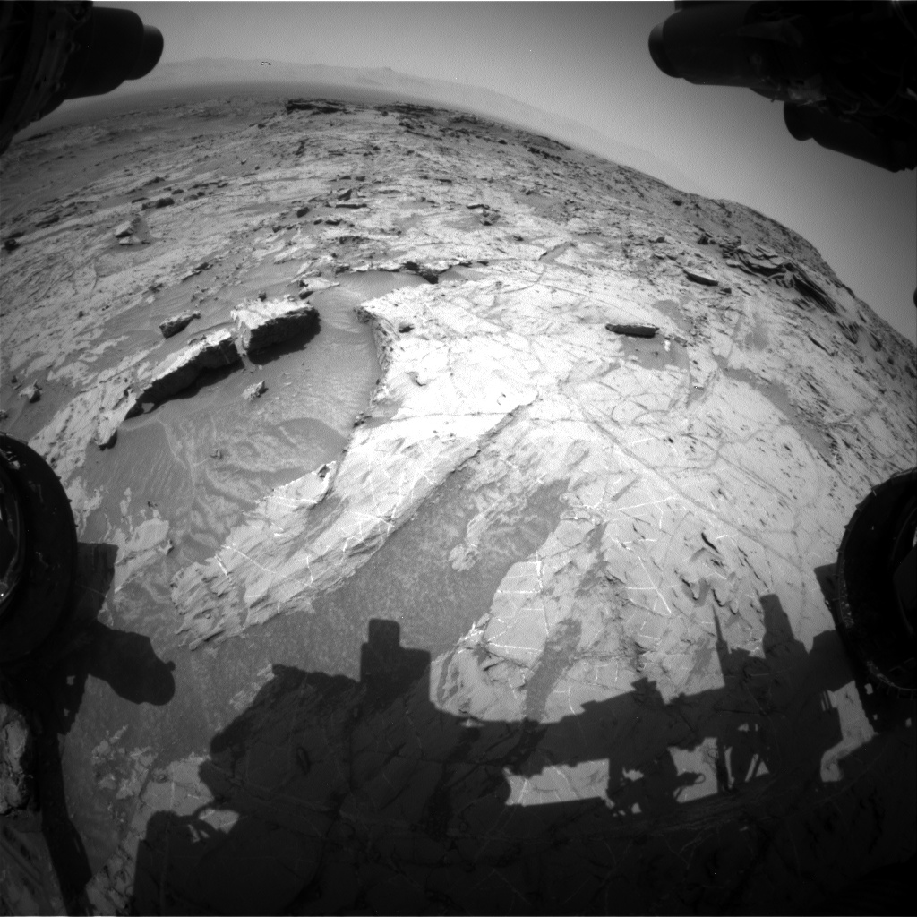 Nasa's Mars rover Curiosity acquired this image using its Front Hazard Avoidance Camera (Front Hazcam) on Sol 1357, at drive 2280, site number 54