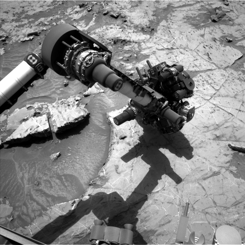 Nasa's Mars rover Curiosity acquired this image using its Left Navigation Camera on Sol 1358, at drive 2280, site number 54