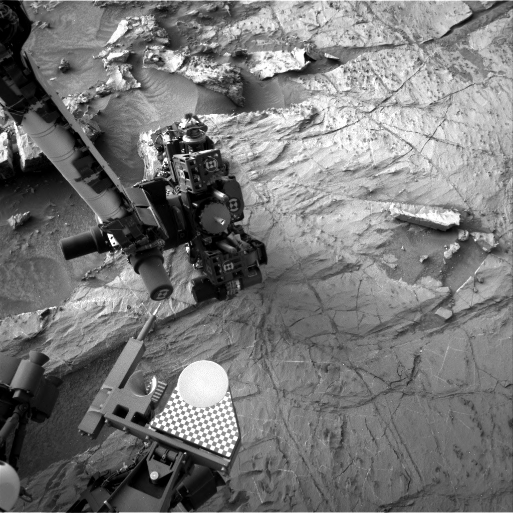 Nasa's Mars rover Curiosity acquired this image using its Right Navigation Camera on Sol 1358, at drive 2280, site number 54