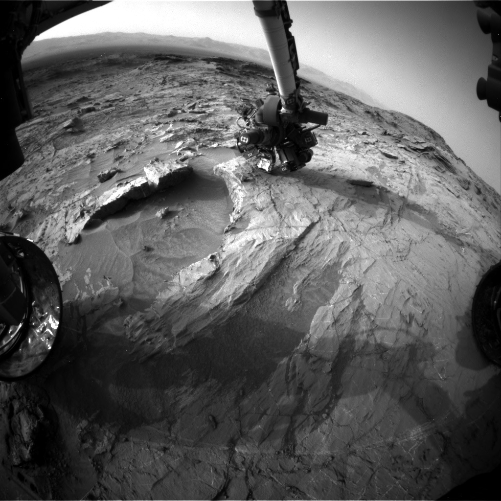 NASA's Mars rover Curiosity acquired this image using its Front Hazard Avoidance Cameras (Front Hazcams) on Sol 1359