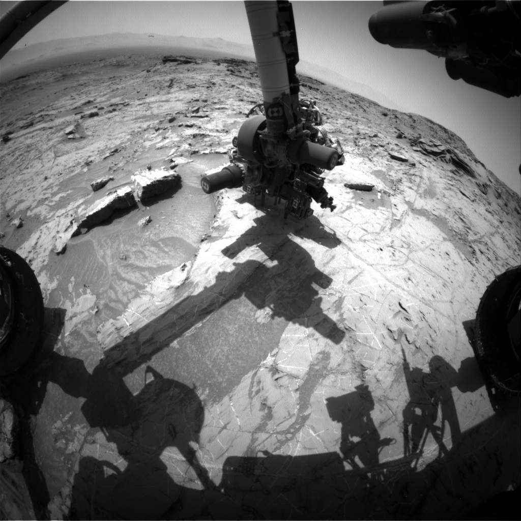 Nasa's Mars rover Curiosity acquired this image using its Front Hazard Avoidance Camera (Front Hazcam) on Sol 1359, at drive 2280, site number 54
