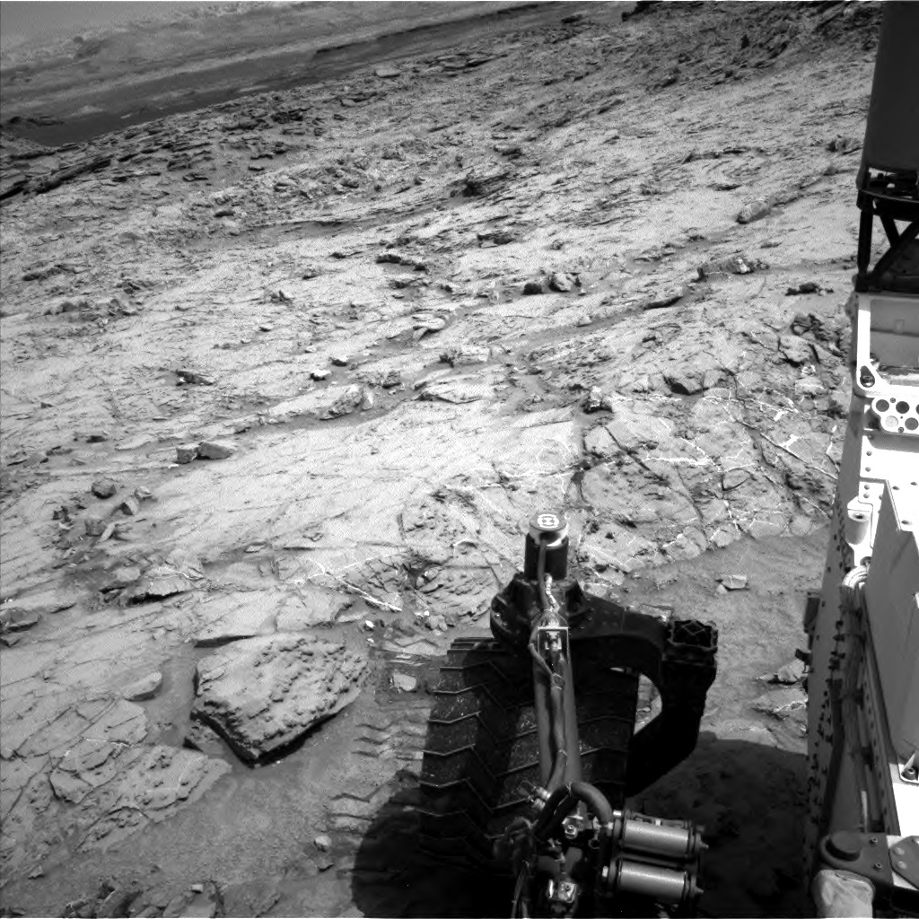 NASA's Mars rover Curiosity acquired this image using its Left Navigation Camera (Navcams) on Sol 1360