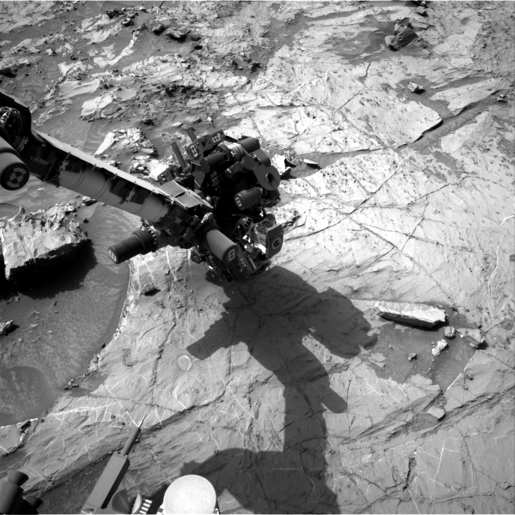 Nasa's Mars rover Curiosity acquired this image using its Right Navigation Camera on Sol 1360, at drive 2280, site number 54