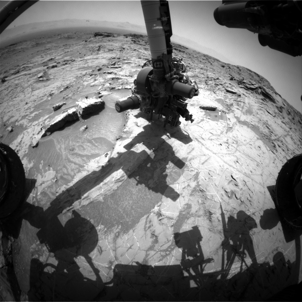 Nasa's Mars rover Curiosity acquired this image using its Front Hazard Avoidance Camera (Front Hazcam) on Sol 1361, at drive 2280, site number 54