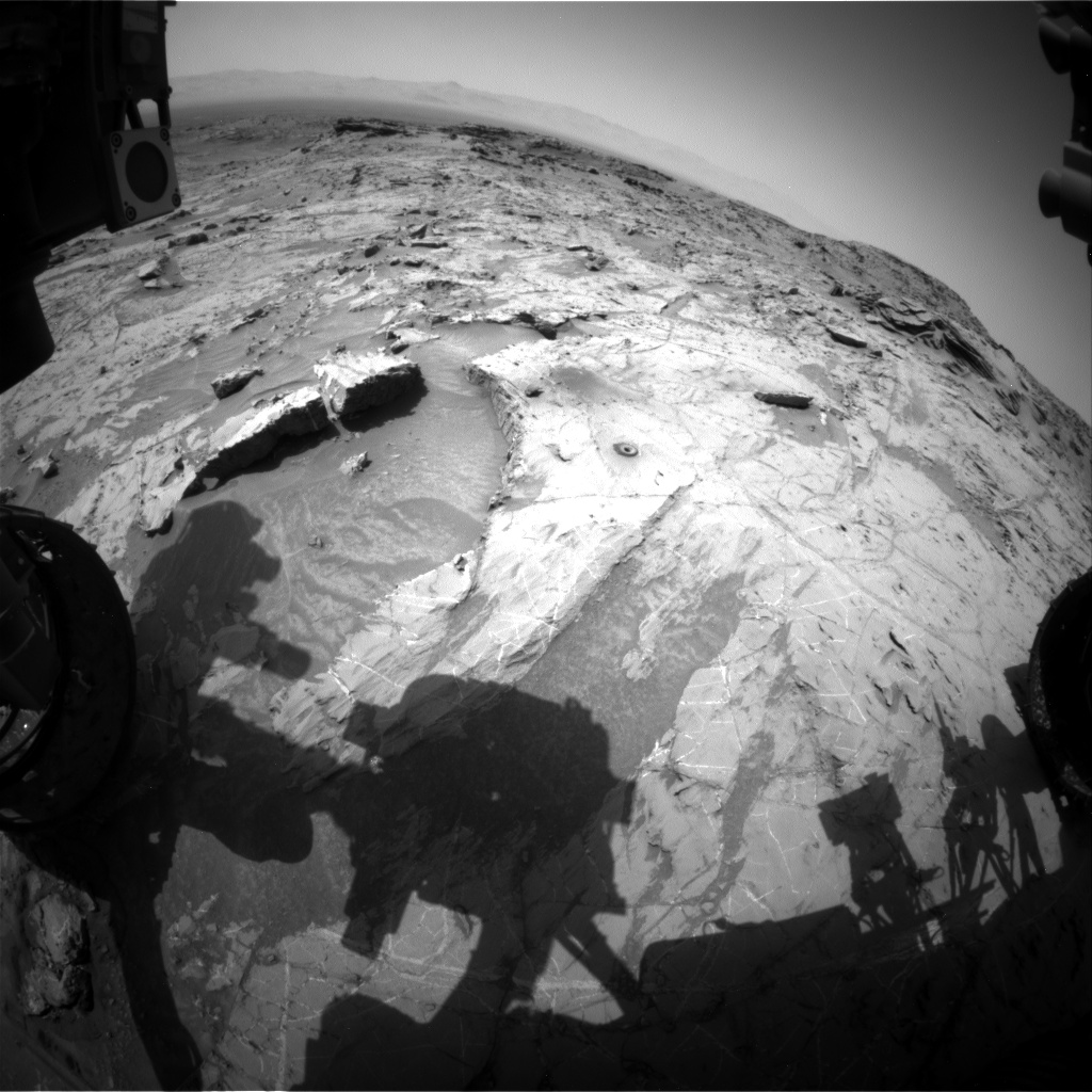 Nasa's Mars rover Curiosity acquired this image using its Front Hazard Avoidance Camera (Front Hazcam) on Sol 1362, at drive 2280, site number 54