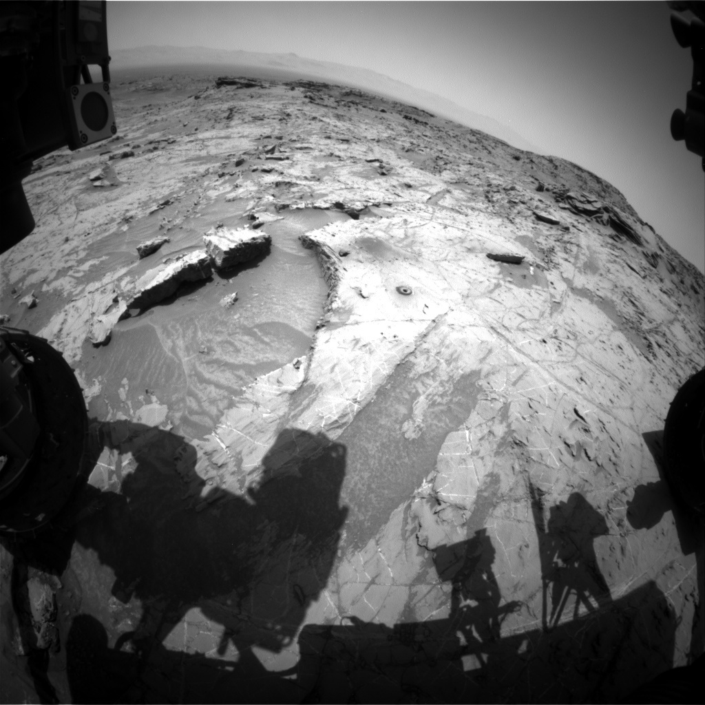 NASA's Mars rover Curiosity acquired this image using its Front Hazard Avoidance Cameras (Front Hazcams) on Sol 1363