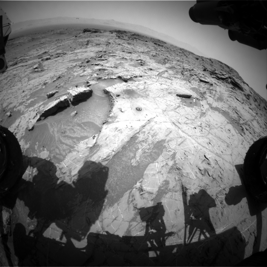 Nasa's Mars rover Curiosity acquired this image using its Front Hazard Avoidance Camera (Front Hazcam) on Sol 1363, at drive 2280, site number 54