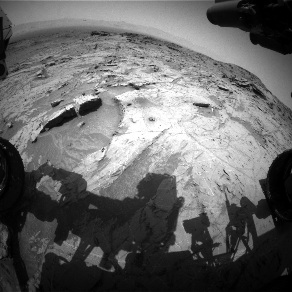 Nasa's Mars rover Curiosity acquired this image using its Front Hazard Avoidance Camera (Front Hazcam) on Sol 1364, at drive 2280, site number 54