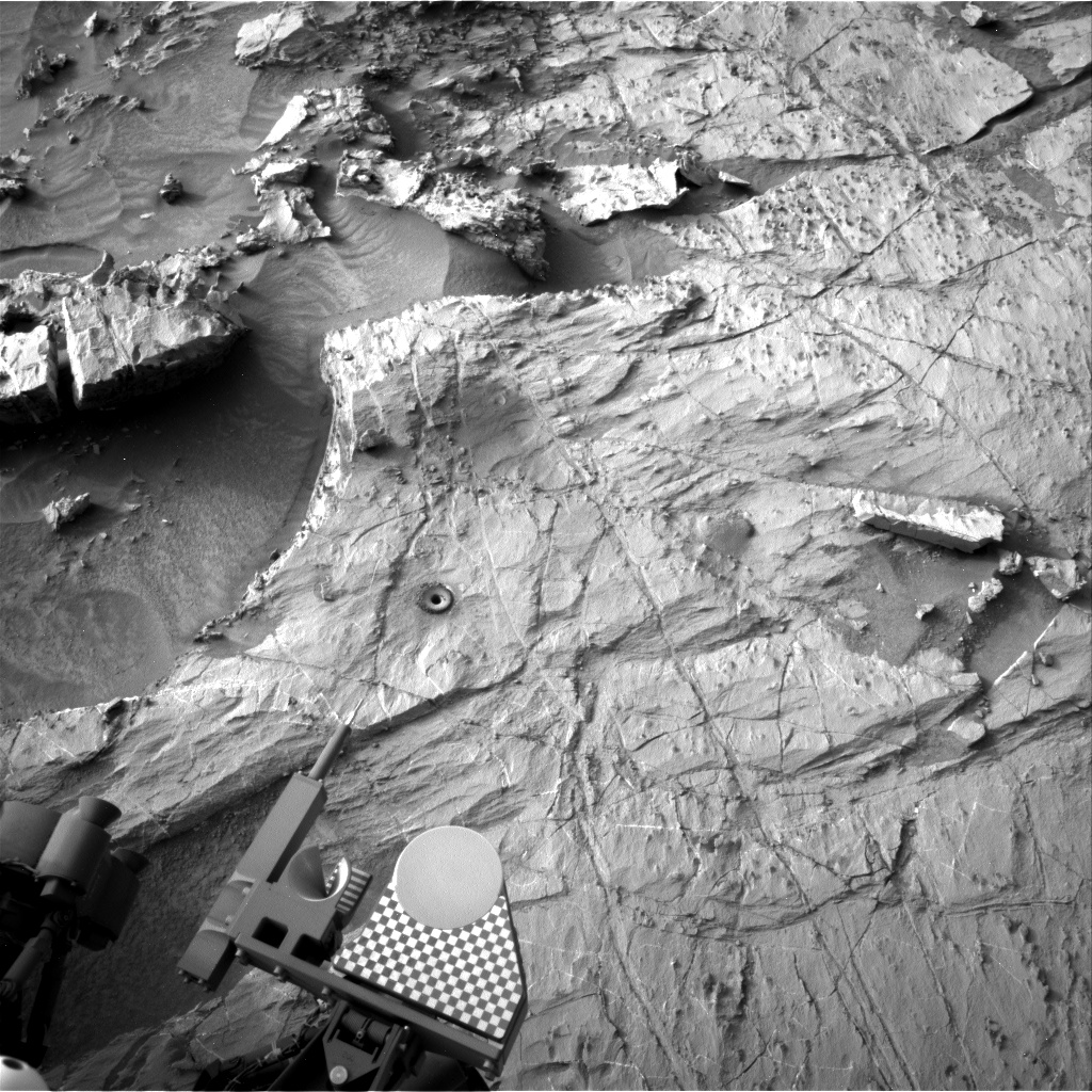 Nasa's Mars rover Curiosity acquired this image using its Right Navigation Camera on Sol 1364, at drive 2280, site number 54