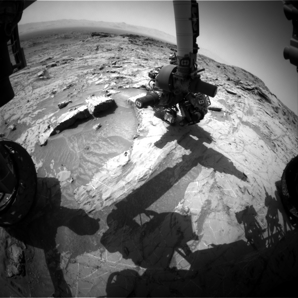 Nasa's Mars rover Curiosity acquired this image using its Front Hazard Avoidance Camera (Front Hazcam) on Sol 1365, at drive 2280, site number 54
