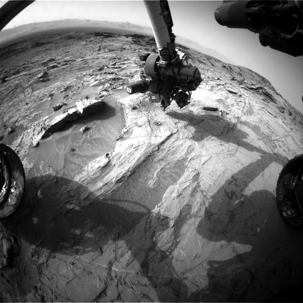 Nasa's Mars rover Curiosity acquired this image using its Front Hazard Avoidance Camera (Front Hazcam) on Sol 1366, at drive 2280, site number 54