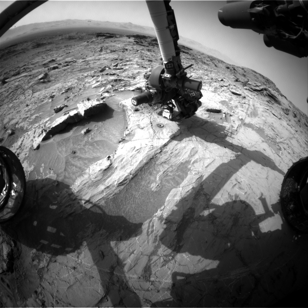 Nasa's Mars rover Curiosity acquired this image using its Front Hazard Avoidance Camera (Front Hazcam) on Sol 1367, at drive 2280, site number 54