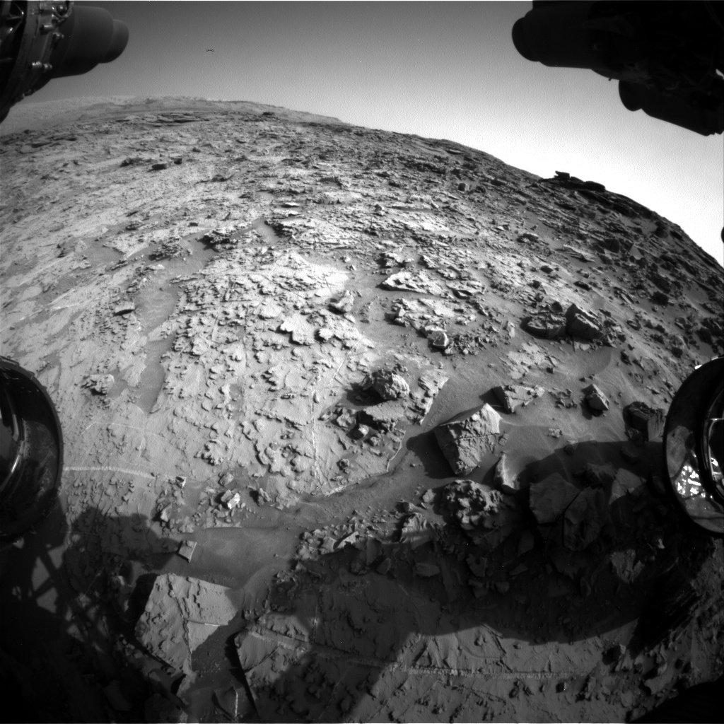 Nasa's Mars rover Curiosity acquired this image using its Front Hazard Avoidance Camera (Front Hazcam) on Sol 1369, at drive 2508, site number 54