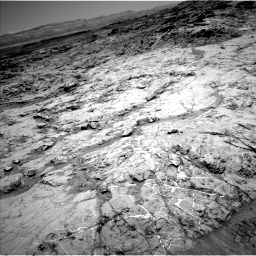 Nasa's Mars rover Curiosity acquired this image using its Left Navigation Camera on Sol 1369, at drive 2286, site number 54