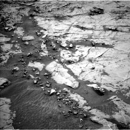 Nasa's Mars rover Curiosity acquired this image using its Left Navigation Camera on Sol 1369, at drive 2316, site number 54