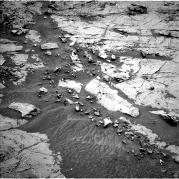 Nasa's Mars rover Curiosity acquired this image using its Left Navigation Camera on Sol 1369, at drive 2322, site number 54