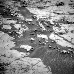 Nasa's Mars rover Curiosity acquired this image using its Left Navigation Camera on Sol 1369, at drive 2328, site number 54