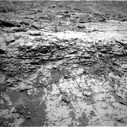 Nasa's Mars rover Curiosity acquired this image using its Left Navigation Camera on Sol 1369, at drive 2406, site number 54
