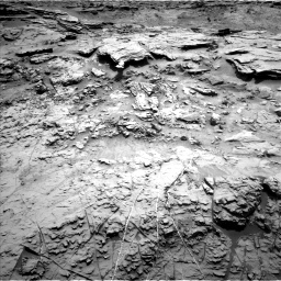 Nasa's Mars rover Curiosity acquired this image using its Left Navigation Camera on Sol 1369, at drive 2466, site number 54